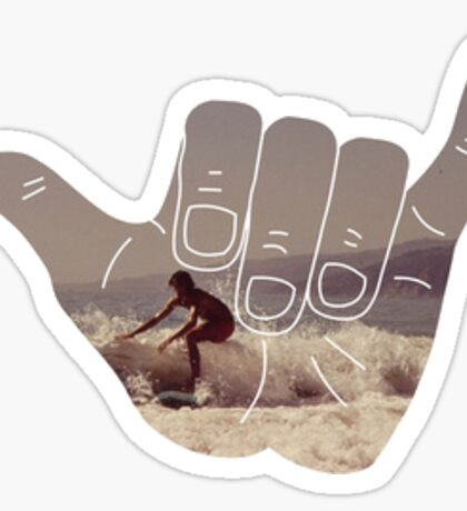 Hang Loose Surfer Sticker