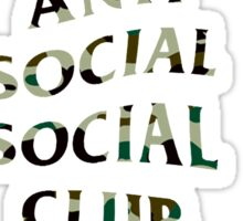 Anti Social Social Club Camo Sticker