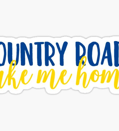 Country Roads, Take Me Home Sticker