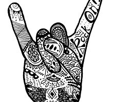 Rock On! Zentangle by alexavec