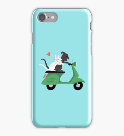 Scooter Cats iPhone Case/Skin