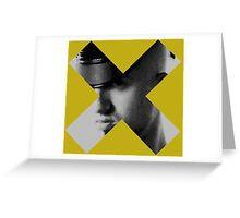 Bad Boy X - mono Greeting Card