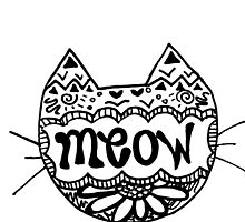 "Decorated ""Meow"" Cat by alexavec"