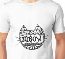 "Decorated ""Meow"" Cat Unisex T-Shirt"