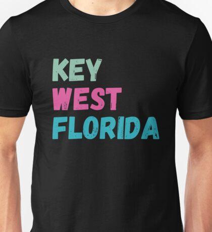 Key West Florida Weathered Letters Unisex T-Shirt
