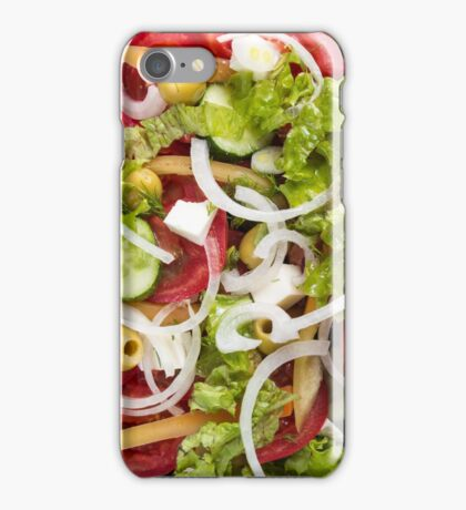 Top view of a salad made from natural raw vegetables iPhone Case/Skin