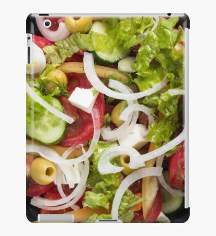 Top view of a salad made from natural raw vegetables iPad Case/Skin
