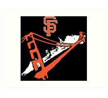 San Francisco Giants Stencil White Art Print