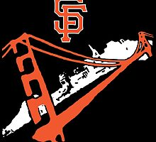 San Francisco Giants Stencil White by dswift