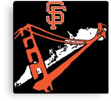 San Francisco Giants Stencil White Canvas Print
