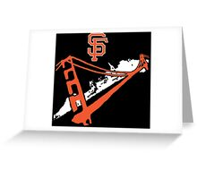 San Francisco Giants Stencil White Greeting Card