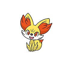 Pokemon Fennekin Photographic Print