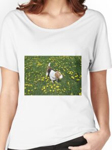 beagle in dandelions Women's Relaxed Fit T-Shirt