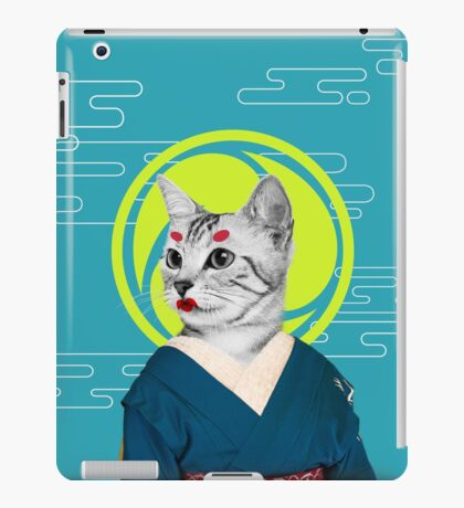 geisha cat iPad Case/Skin