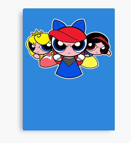 Princess Puff Girls 2 Canvas Print