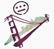 Stencil Golden Gate San Francisco Outline T-Shirt