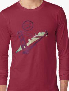 Stencil Golden Gate San Francisco Outline Long Sleeve T-Shirt