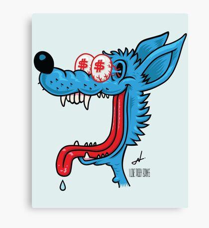 greedy wolf Canvas Print