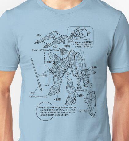 GUNDAM INSTRUCTIONS Unisex T-Shirt
