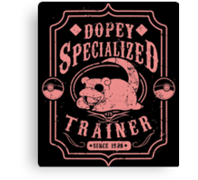 Dopey Specialized Trainer Canvas Print