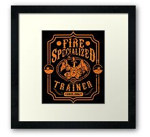 Fire Specialized Trainer II Framed Print