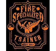 Fire Specialized Trainer Photographic Print
