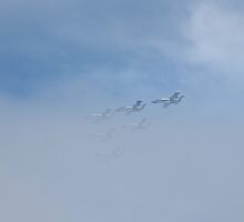 Blue Angels in the Fog by David Denny