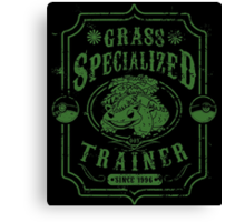 Grass Specialized Trainer Canvas Print