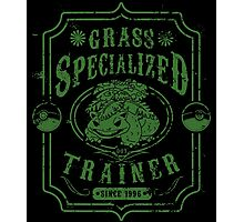 Grass Specialized Trainer Photographic Print