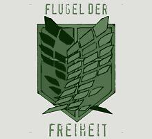 Flugel der Freiheit - Wings of Freedom in Emerald Unisex T-Shirt