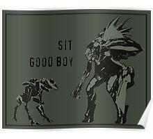 Sit.  Good Boy.  |  Halo Poster