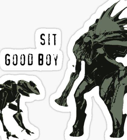 Sit.  Good Boy. Sticker