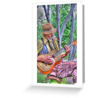 Traveling Troubadour Greeting Card
