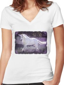 Gypsy Unicorn I Women's Fitted V-Neck T-Shirt