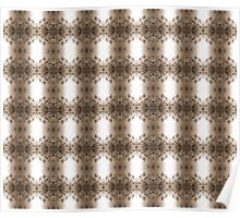 cherry blossoms in the sun, sepia pattern Poster