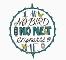 "Charlotte Brontë: ""I am no bird"" (Sticker) by Jenn Reese"