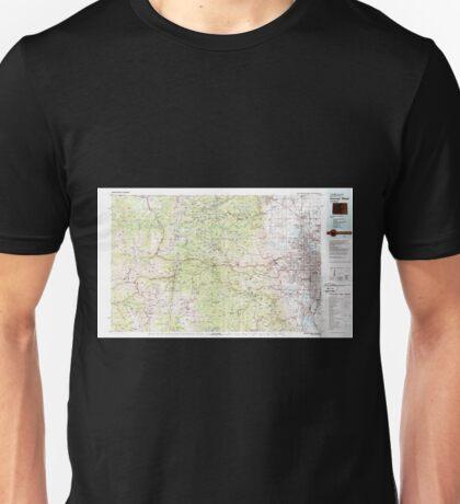 USGS TOPO Map Colorado CO Denver West 232784 1983 100000 Unisex T-Shirt