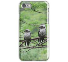 Two Wet Kookaburras iPhone Case/Skin