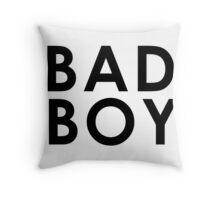 BAD BOY (Black) Throw Pillow