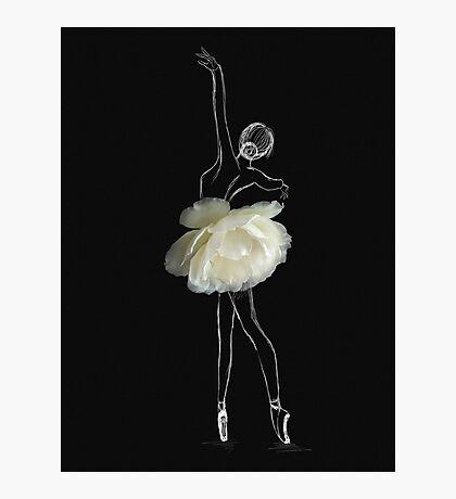 White rose ballerina Photographic Print