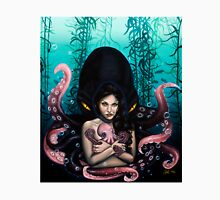 Woman with Baby Octopus and Tentacles Painting T-Shirt