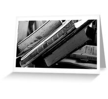 Books, collections of enlightenment Greeting Card