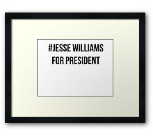 Jesse Williams for President Framed Print