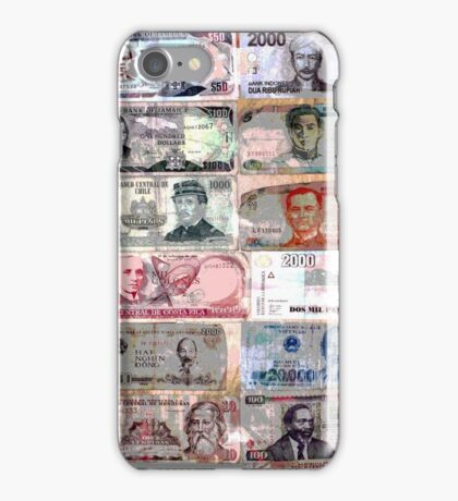 World Money Notes iPhone Case/Skin