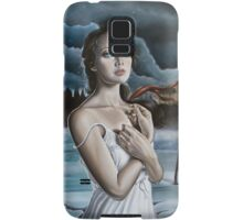 Girl in Frozen Lake with Ravens Samsung Galaxy Case/Skin