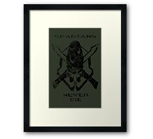 Spartans Never Die - Halo Framed Print