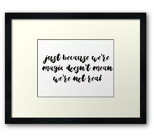 Jesse Williams Magic Quote Framed Print