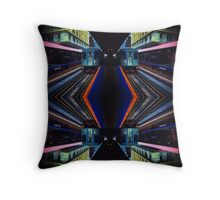 Etcher's Train Station Throw Pillow
