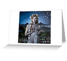 Virgo Girl with Flower Crown Greeting Card