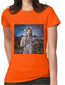 Virgo Girl with Flower Crown Womens Fitted T-Shirt